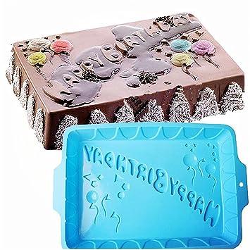 Premium Antiadherente Moldes para tartas, FantasyDay Moldes de Silicona para Caramelos, Chocolate, Hornear