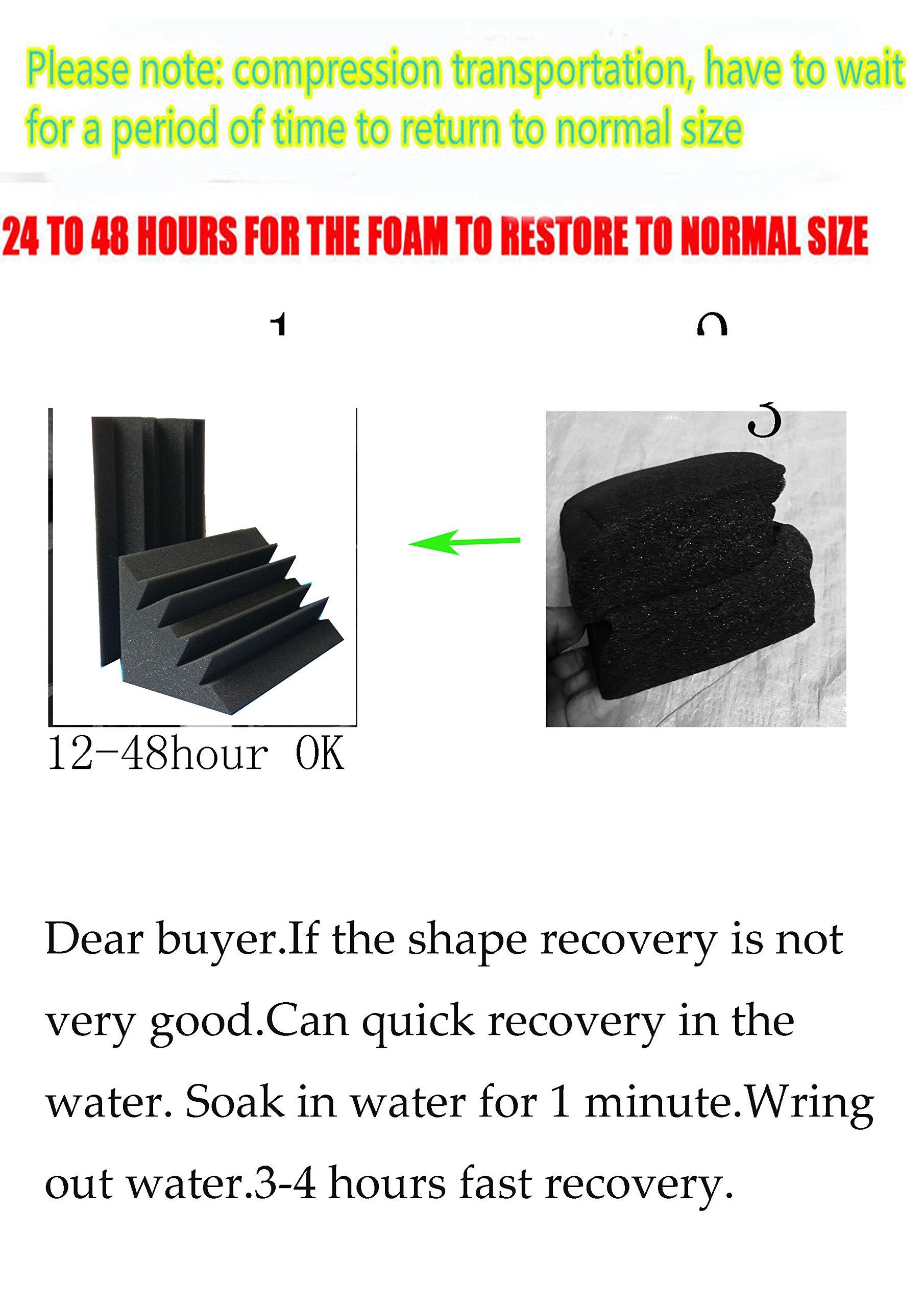 Xin&LG 8 PCS 4.6''x4.6''x9.4'' Sale Acoustic Foam Black Bass trap Soundproof foam