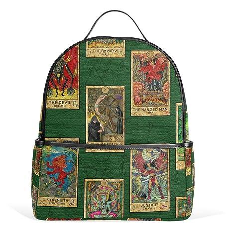 ALAZA Cartas del Tarot Mochila Vintage School Bookbag ...
