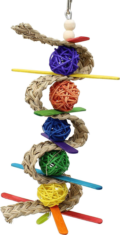 00156 Chewballishous Bonka Bird Toys Vine Palm Wood Chew Colorful Parrot Quaker Parrotlet Budgie