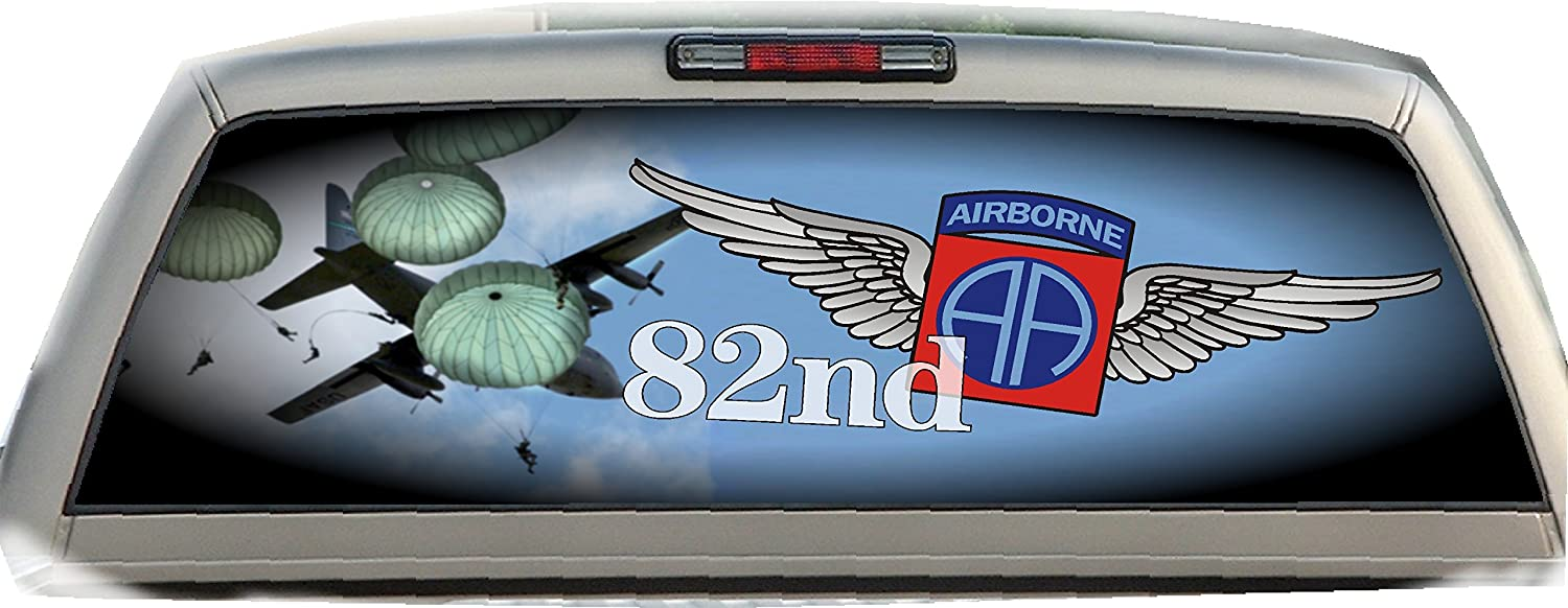 Amazon com 82nd airborne 22 inches by 65 inches rear window graphic automotive