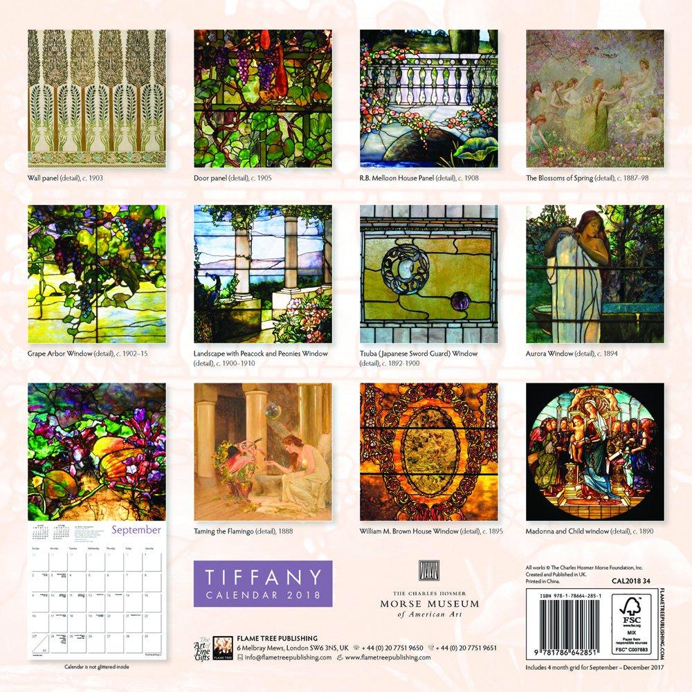 eefcc074ad Tiffany Wall Calendar 2018 (Art Calendar): Amazon.co.uk: Louis Comfort  Tiffany: 9781786642851: Books
