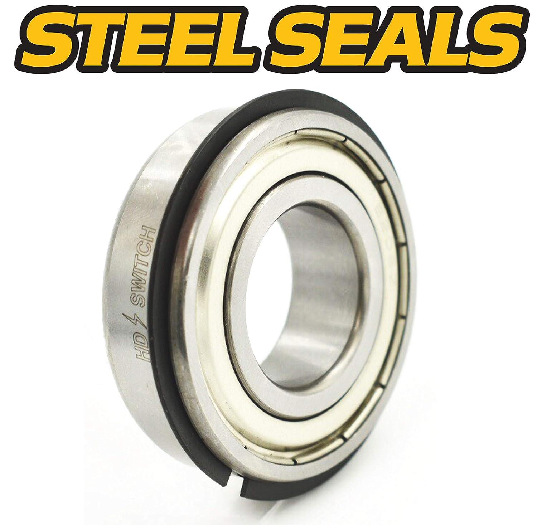 TS John Deere Gator 6x4 4 Pack 4x2 Trail Front Wheel Bearing Kit AM102888 w//Steel Seals 25mm Compatible with John Deere HD Switch