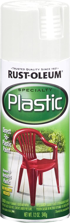 Rust-Oleum 211339 Paint for Plastic Spray, 12 oz, White