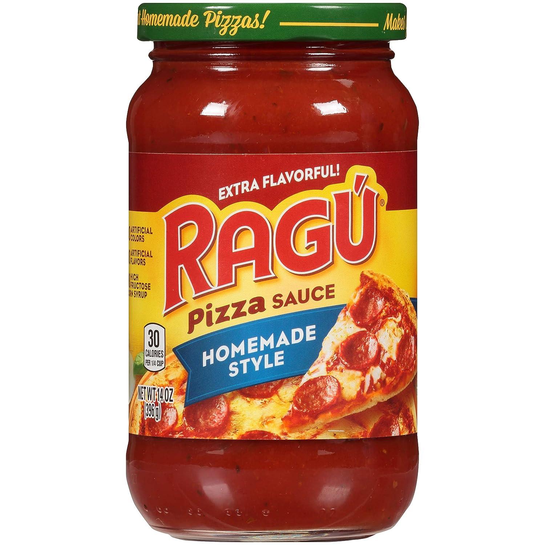 Amazon Com Ragu Pizza Sauce Homemade Style 14 Oz Gourmet Seasoned Coatings Grocery Gourmet Food