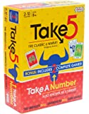 AMIGO Take 5: Two Games in One – U.S. Version of 6 Nimmt! with Take A Number (X Nimmt!) Included, Yellow/Red