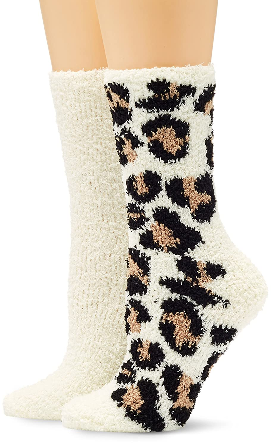Dorothy Perkins Women's Leopard Shammy Slipper Socks, (Size: One) 16257810