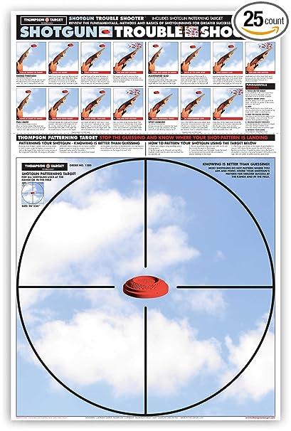 Shotgun Patterning Trouble Shooter - Paper Gun Range Shooting Targets 25 x  38 Inches (25 pack)