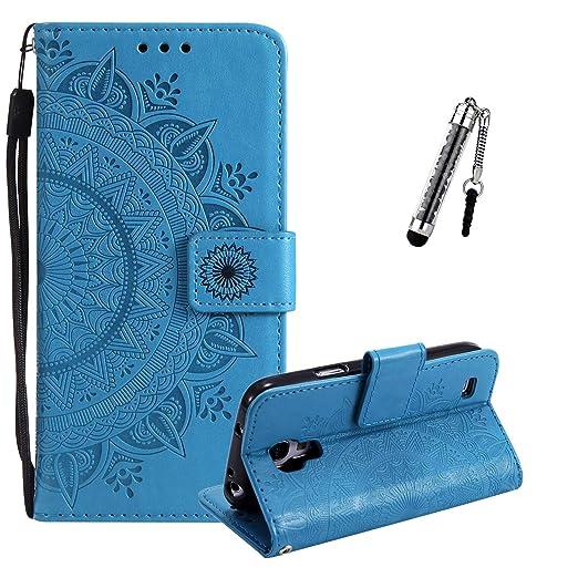 ZCRO Leder Hülle für Samsung Galaxy S4 Handyhülle Tasche Handytasche Case Flip Cover Hülle Schutzhülle Leder Geldbörse Magnet