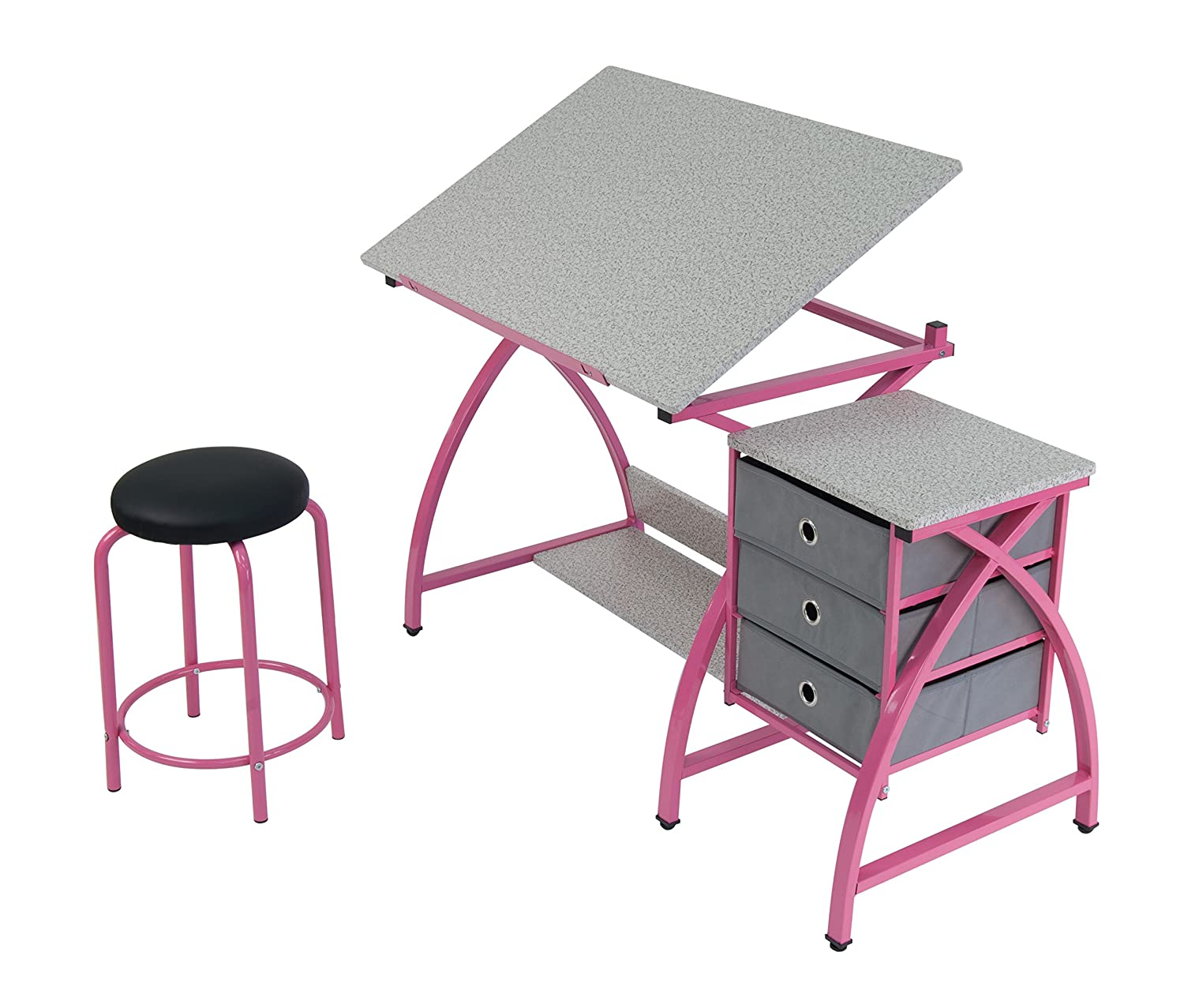 sc 1 st  Amazon.com & Amazon.com: Comet Center with Stool in Pink / Spatter Gray islam-shia.org