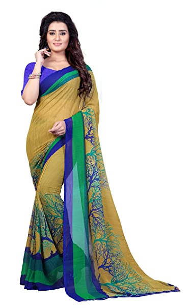 6f322d2e485d8 Anand Sarees Georgette Saree with Blouse Piece (1341 Multicolor Free Size)
