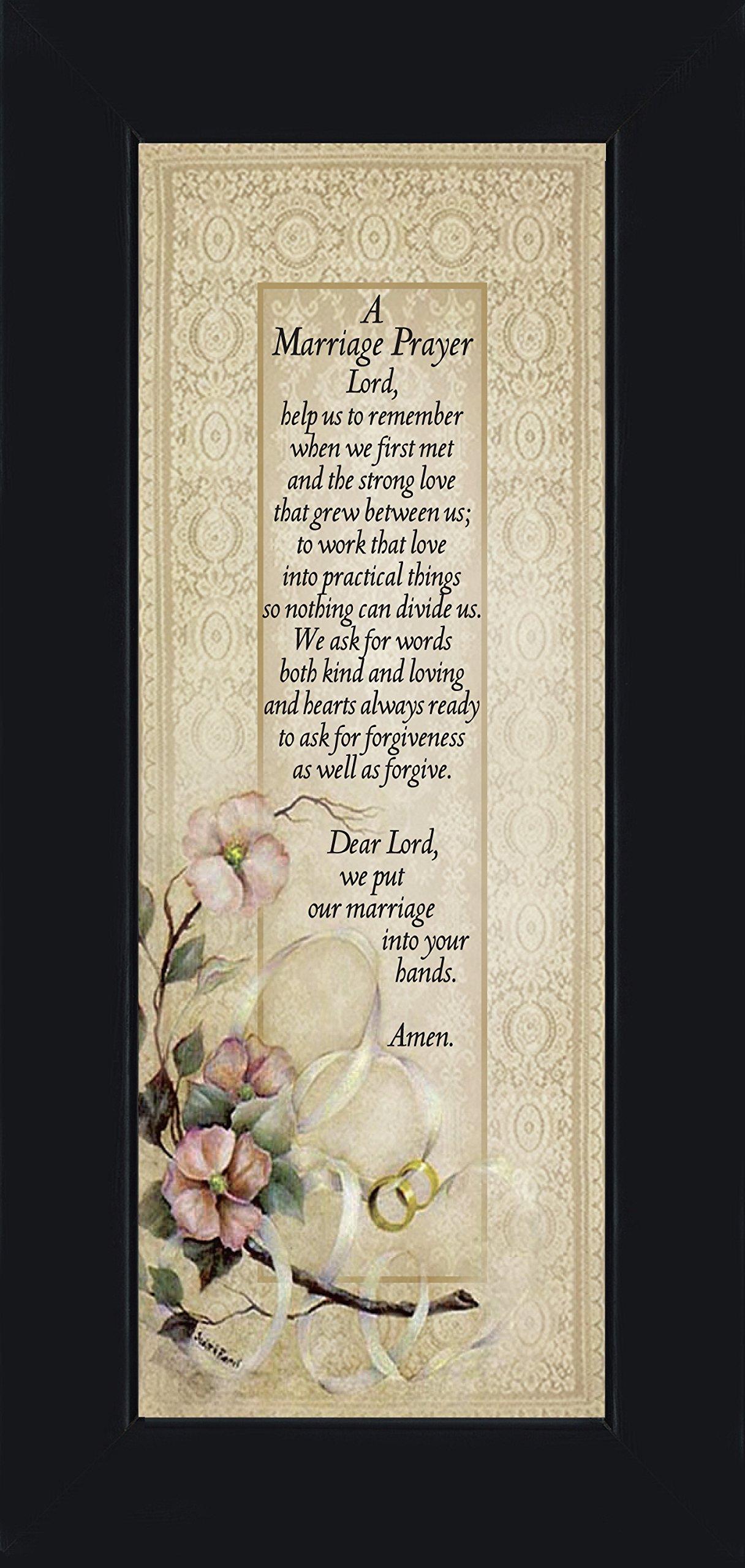 Marriage Prayer, Christian Marriage Gift, Frame Wedding Gift, 6x12 7757BC