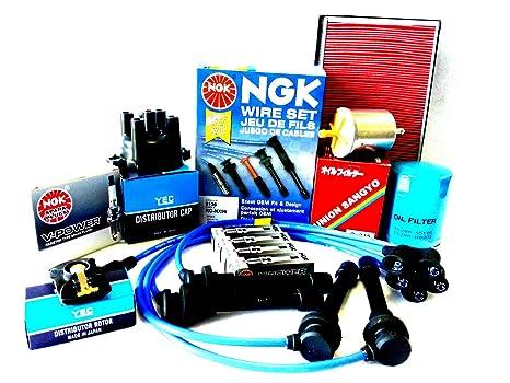 97 – 01 Tune Up Kit Cables distribuidor Cap Rotor Bujías para Nissan Altima