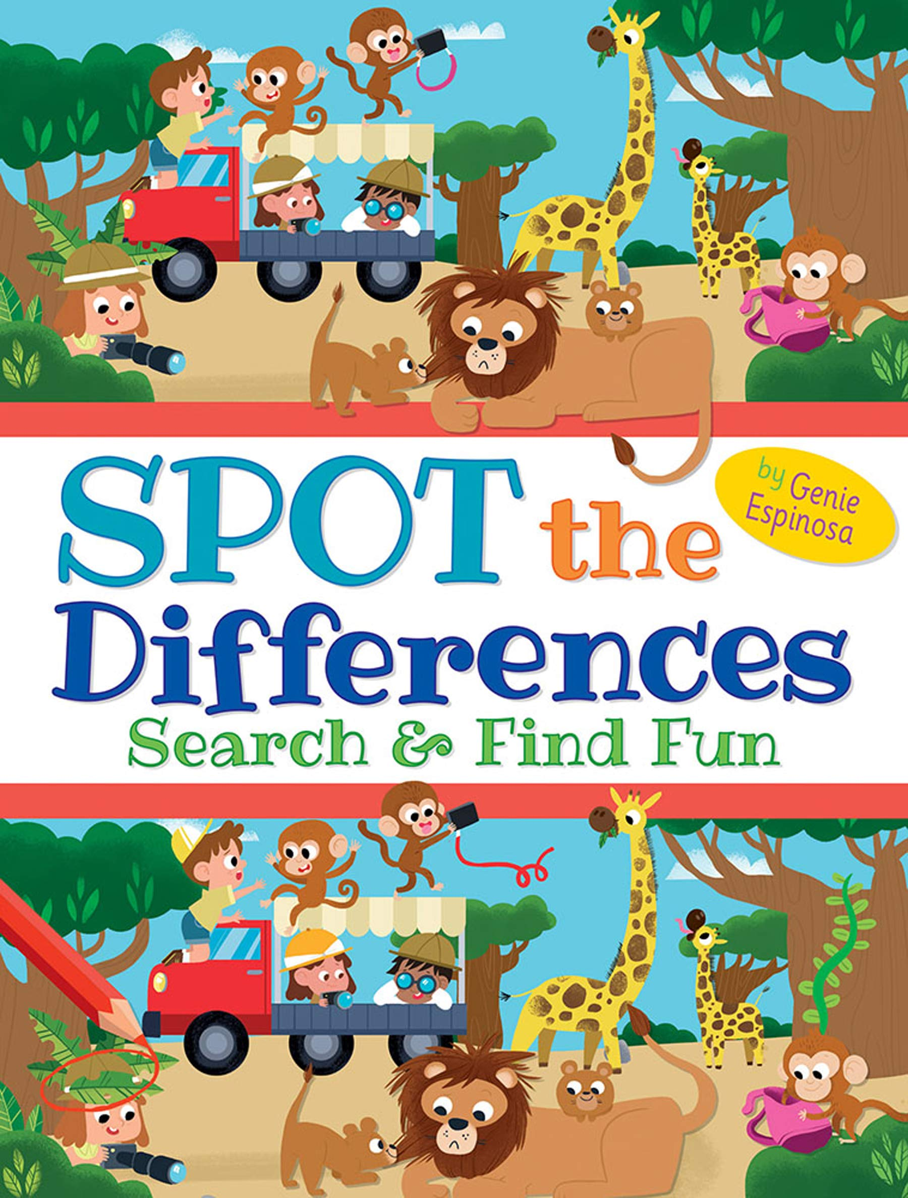 Spot the Differences Easy and Fun Activity Workbook Picture Puzzles for Kids