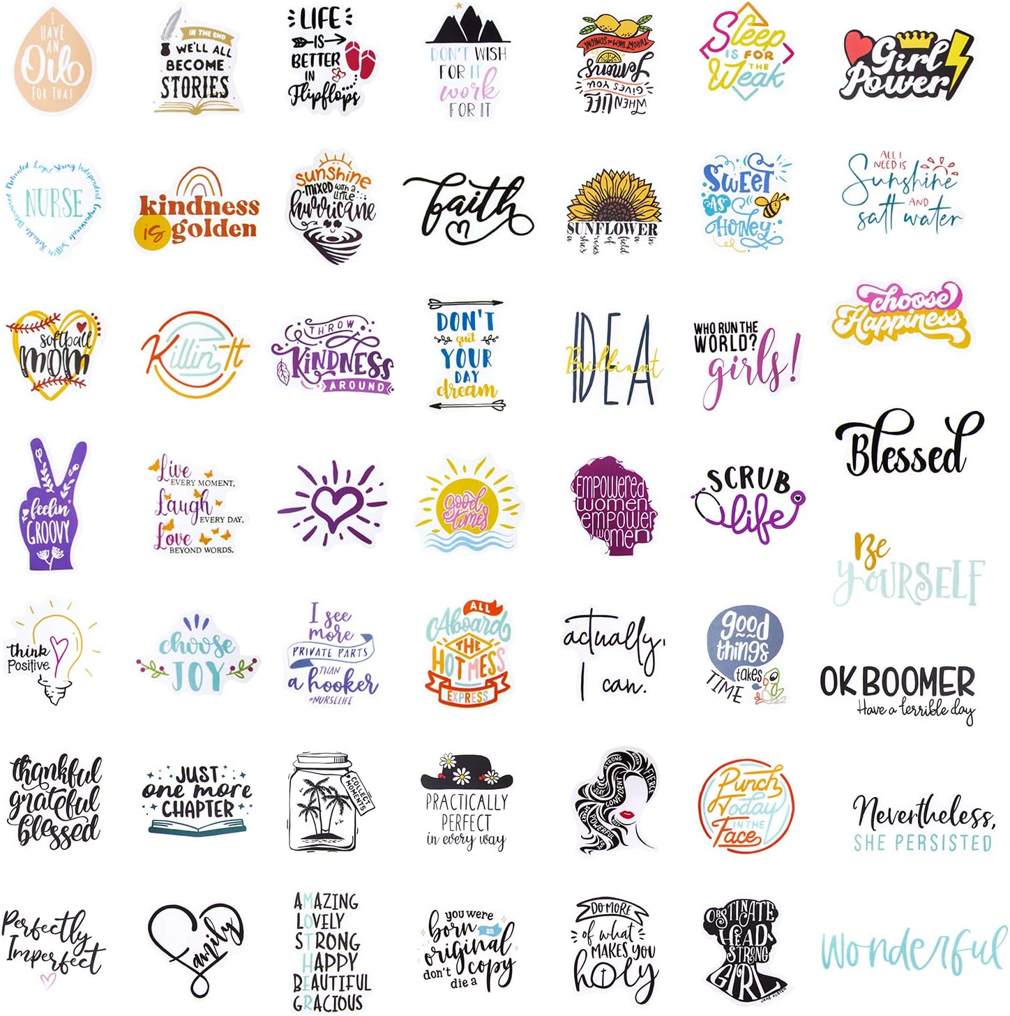 Aesthetic Stickers Reward Motivational Inspirational Stickers Decal for Students and Teachers, Waterproof Vinyl Stickers Skateboard Stickers Durable Laptop Stickers for Teens
