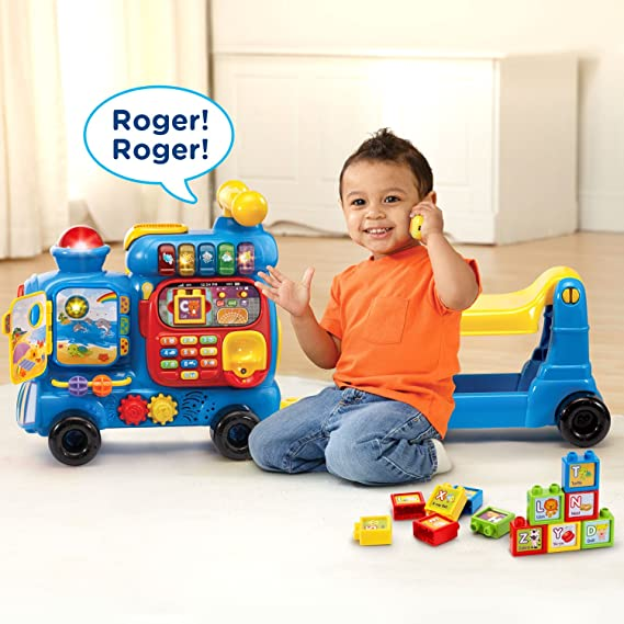 Vtech Sit To Stand Ultimate Alphabet Train Amazon Exclusive Blue 80