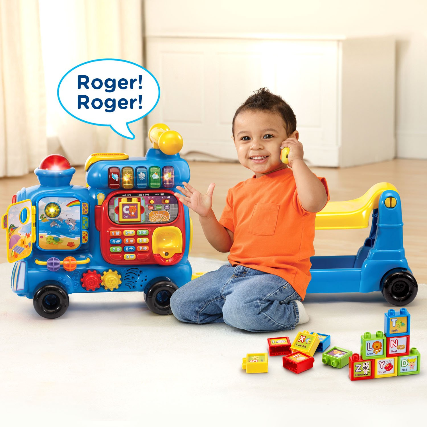 VTech Sit-to-Stand Ultimate Alphabet Train Amazon Exclusive, Blue by VTech (Image #5)