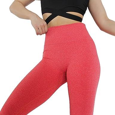 1e0017f4f1f828 Women's Leggings Gym Sportswear Yoga Pants Running Training Fitness  Activewear (X-Smal, Coral