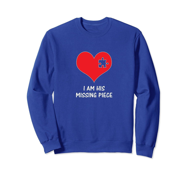Missing Piece Womens Matching Couple Sweatshirt-AZP