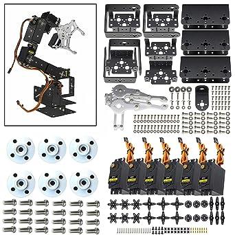 6DOF Mechanical Robotic Arm Clamp Claw Mount Aluminium Robot Arm For Arduino DIY