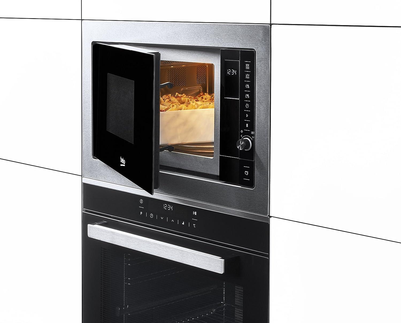 Beko MGB 25332 BG Microondas Integrable con Grill, 900 W, 25 litros, Acero inoxidable