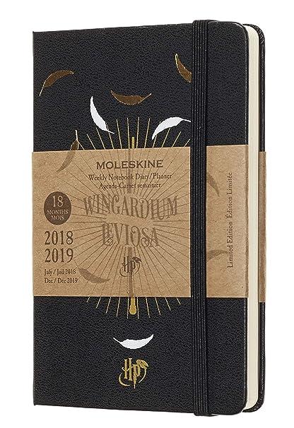 Moleskine DHP18WN2Y19 - Libreta semanal 18m de edición limitada Harry Potter de bolsillo, color negro