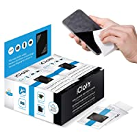 iCloth Small-Screen and Lens Cleaner | 100 Cleaning Wipes pre-moistened and Individually Sealed - Approved for Optical Clarity