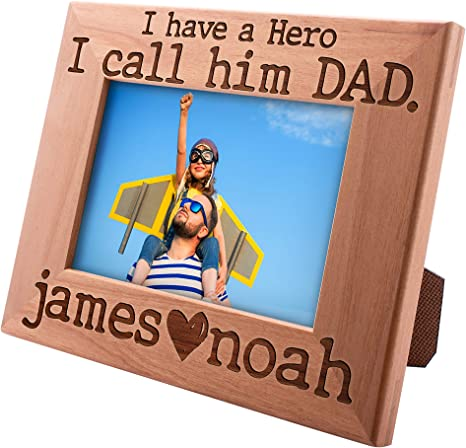 Personalised S//P Photo Frame Engraved Birthday//Christmas Gift Dad Daddy Gramps