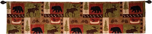 Carstens, Inc JP593 Patchwork Lodge Plush Valance, Multi