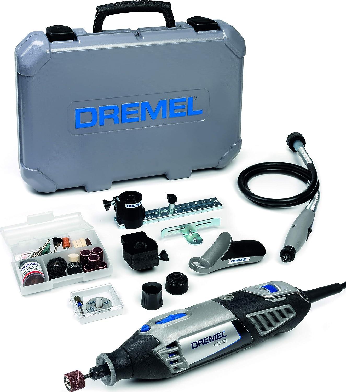 Outil Rotatif Multifonction Dremel 4000-175W avec 1 Adaptation 45 Accessoires /& Mandrin Universel Autoserrant Dremel 4486 de 0,8mm /à 3,2mm pour Outil Multifonction Rotatif