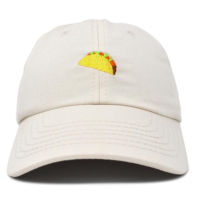 2fc350b4e7c Amazon.com  DALIX Taco Dad Hat Baseball Cap for Men Womens Emoji Caps  Beige  Clothing