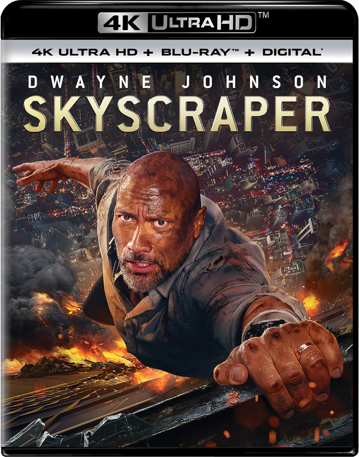 4K Blu-ray : Skyscraper (With Blu-ray, 4K Mastering, 2 Pack, Digital Copy)