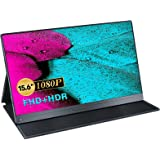 """Portable Monitor, Upgraded 15.6"""" IPS HDR 1920X1080 FHD Eye Care Screen USB C Gaming Monitor, Dual Speaker Computer Display HD"""