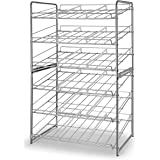Simple Trending 2 Pack Can Rack Organizer, Stackable Can Storage Dispenser Holds up to 72 Cans for Kitchen Cabinet or Pantry,