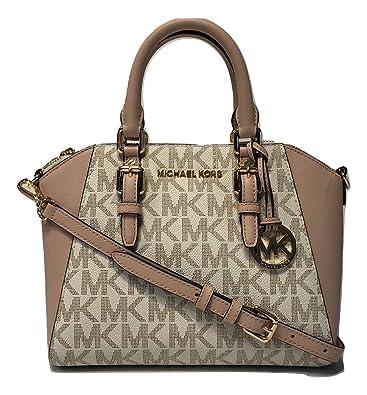 ... coupon michael michael kors ciara md messenger handbag signature mk  vanilla ballet 75fe1 b879f 4372fe5155235