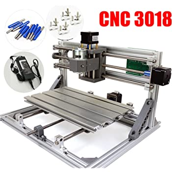 2 In 1 Diy Cnc 2418 3 Axis Cnc Router Kit 5500mw Laser