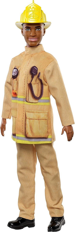 Ken Firefighter Doll Wearing Fireman's Uniform with Hat