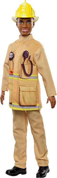 Barbie Fashionistas Ken Careers 3 Dolls #91 #125 AA Purple Hair Afro Firefighter