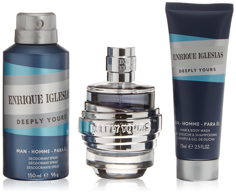 Enrique Iglesias Deeply Yours Coffret pour Homme Eau de Toilette + Déodorant + Gel Douche 3614221192535