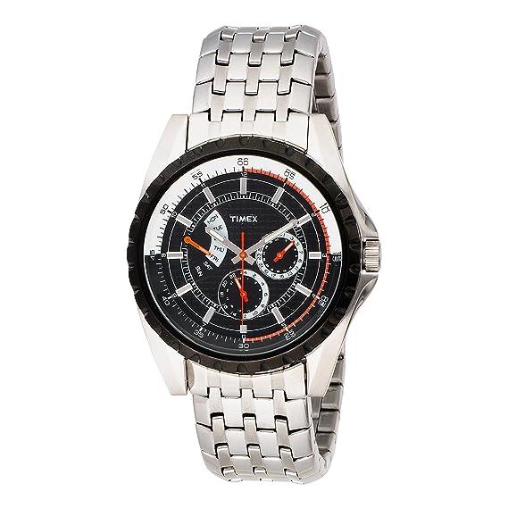 Timex T2M430 - Reloj de caballero de cuarzo, correa de acero inoxidable color plata: Timex: Amazon.es: Relojes