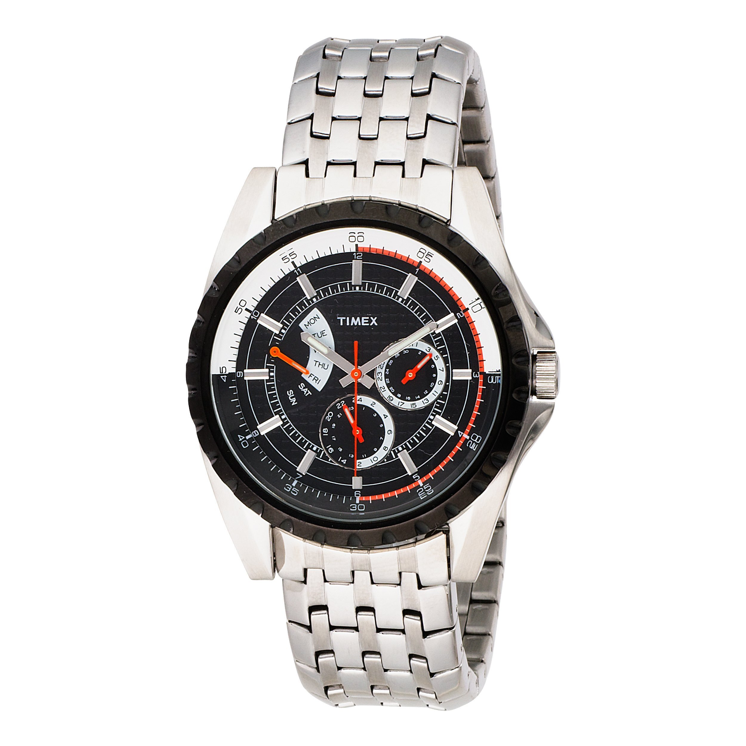 Timex Men's T2M430 Premium Collection Retrograde Chronograph Stainless Steel Bracelet Watch