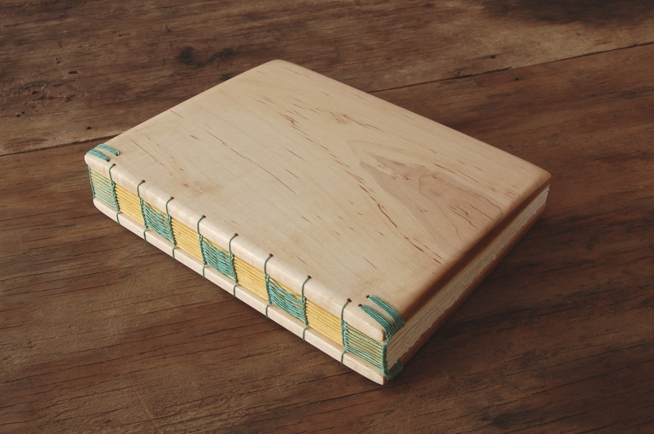 Maple Wood Wedding Guest Book or Handmade Journal
