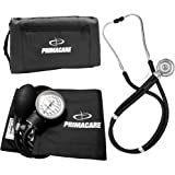 Primacare DS-9181-BK Professional Blood Pressure Kit, Includes Aneroid Sphygmomanometer and Sprague Rappaport…