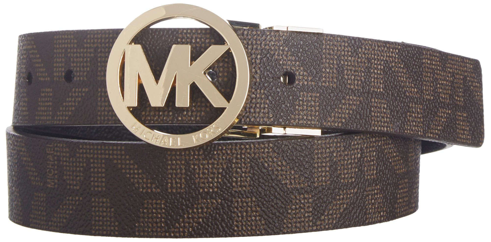 Michael Kors Womens Reversible Belt, Chocolate, Small by Michael Kors