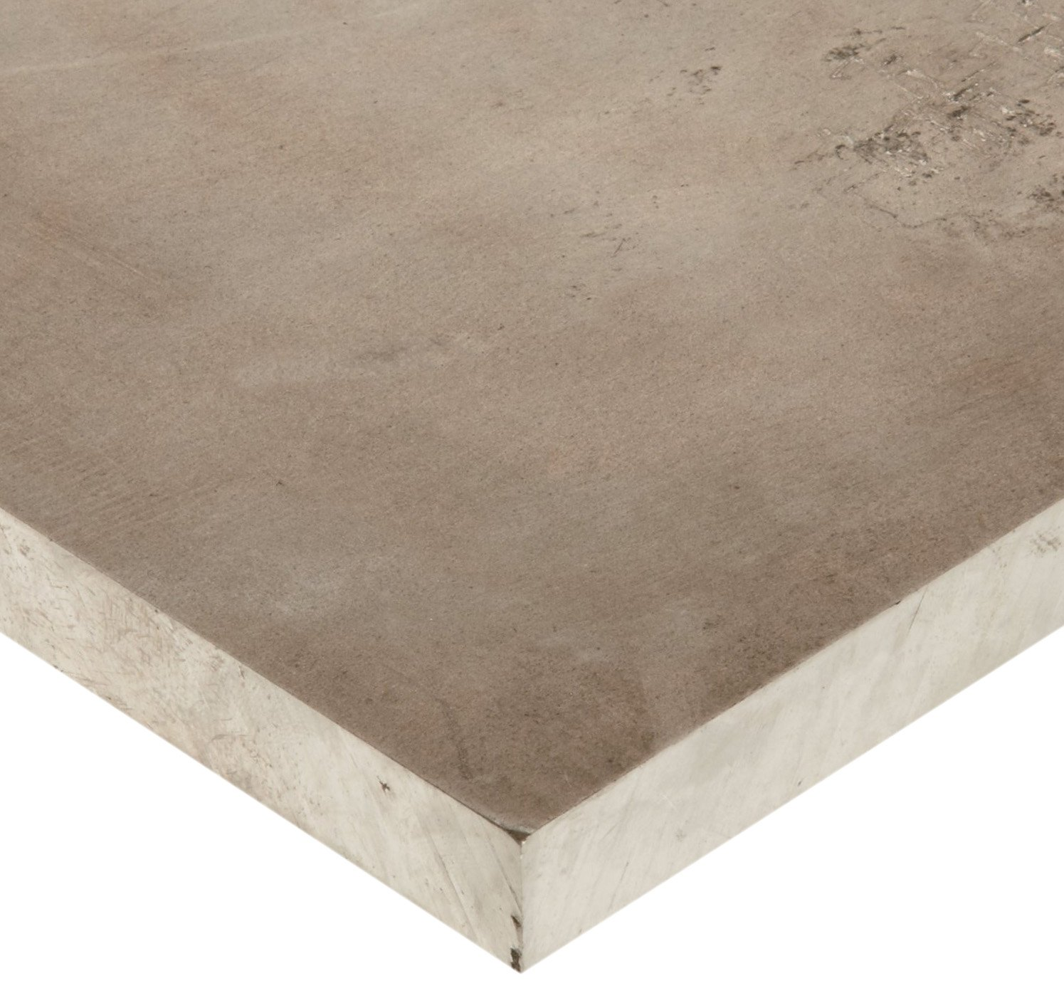 Magnesium Sheet, Unpolished (Mill) Finish, H24 Temper, 1'' Thickness, 6'' Width, 6'' Length by Small Parts