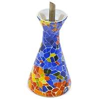 Art Escudellers Vaisselle de Porcelaine décoré en TRENCADIS au Style Gaudí. (Couleur Aurora)