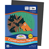 "SunWorks Construction Paper, Black, 9"" x 12"", 50 Sheets"