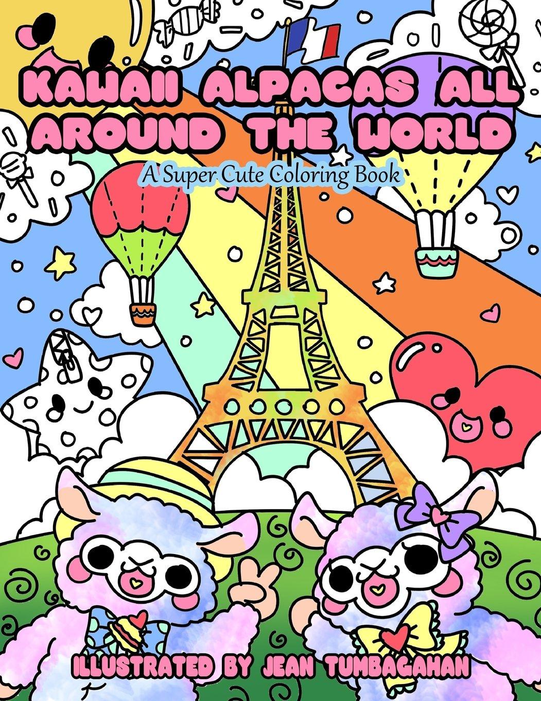 - Kawaii Alpacas All Around The World: A Super Cute Coloring Book