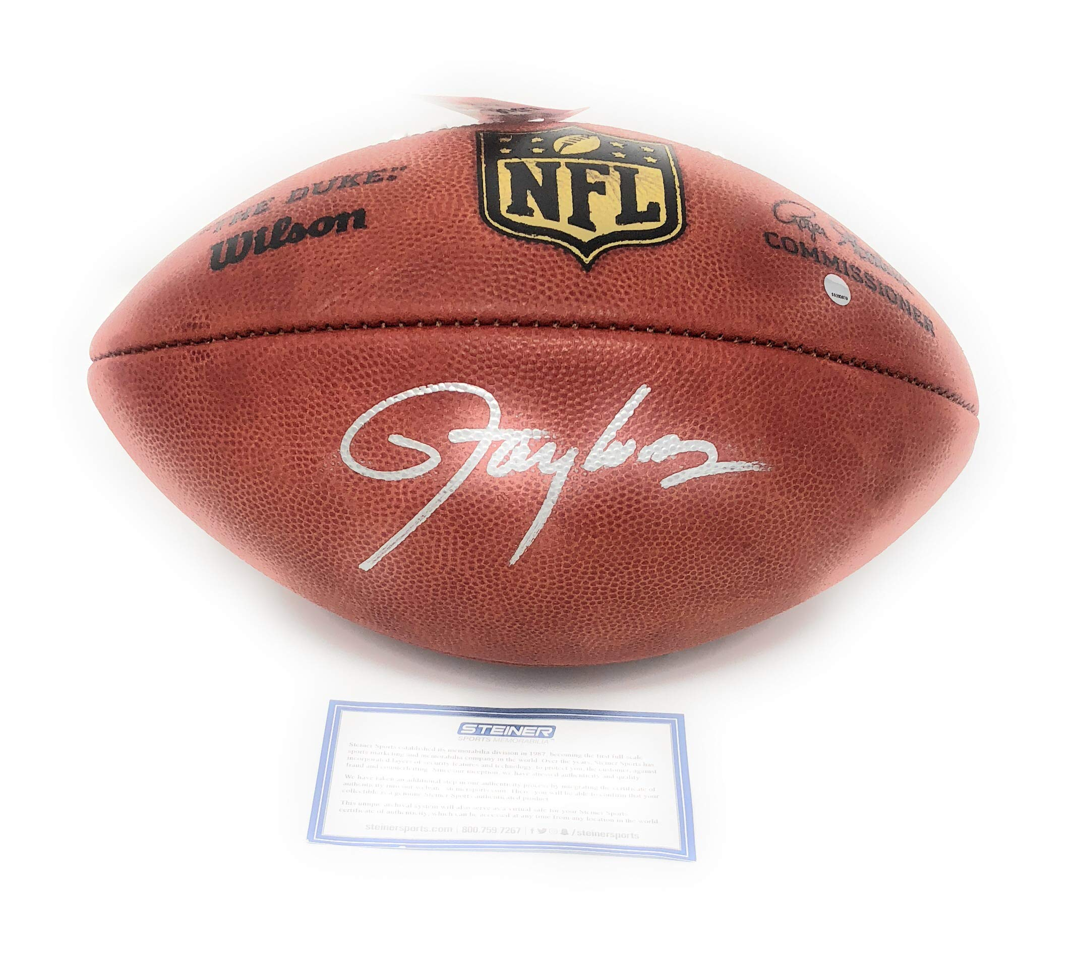 Lawrence Taylor New York Giants Signed Autograph Authentic NFL Duke Football Steiner Sports Certified