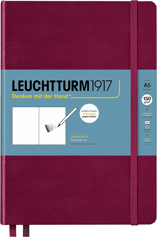 , puerto rojo Bloc de dibujo 150 g//m2 Leuchtturm1917 362363 tama/ño A5, tapa dura, 112 p/áginas